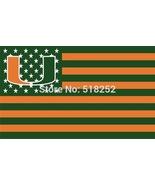 NCAA Miami Hurricanes Stars & Stripes 3'x5' Indoor/Outdoor Team Nation F... - $9.99