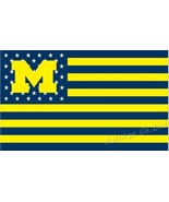NCAA Michigan Wolverines Stars & Stripes 3'x5' Indoor/Outdoor Team Natio... - $9.99