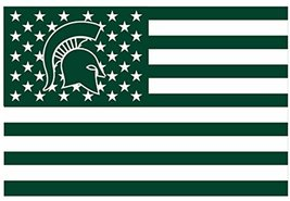 NCAA Michigan State Spartans Stars & Stripes 3x5 Indoor/Outdoor Team Nat... - $9.99