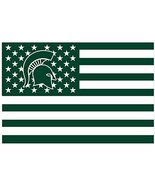 NCAA Michigan State Spartans Stars & Stripes 3x5 Indoor/Outdoor Team Nat... - $9.99
