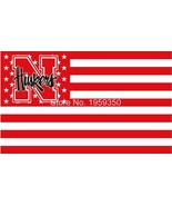 NCAA Nebraska Cornhuskers Stars & Stripes 3'x5' Indoor/Outdoor Team Nati... - $9.99