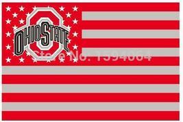 NCAA Ohio State Buckeyes Stars & Stripes 3'x5' Indoor/Outdoor Team Natio... - $9.99