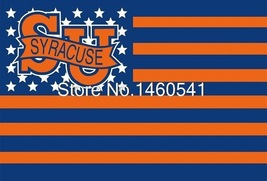 NCAA Syracuse Orange Stars & Stripes 3'x5' Indoor/Outdoor Team Nation Fl... - $9.99
