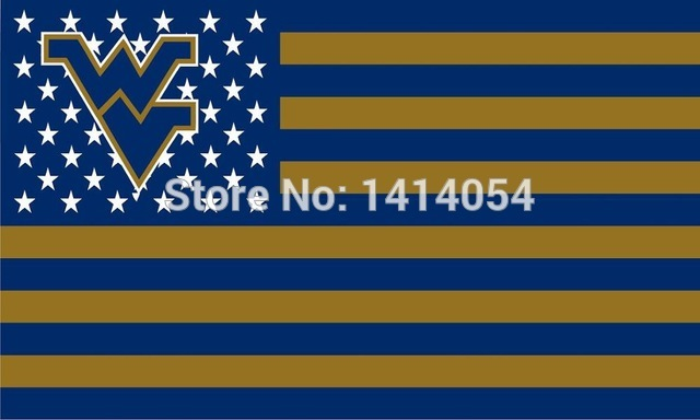 NCAA West Virginia Mountaineers Stars & Stripes 3'x5' Indoor/Outdoor Team Flag