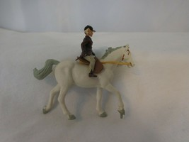 Britains Young Girl Rider ON White Horse with Saddle  Reins #2080 New Vi... - $20.80