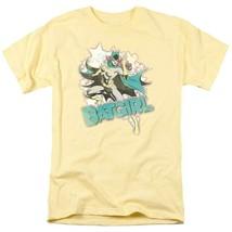 Batgirl T-shirt SuperFriends retro 80s cartoon DC yellow graphic tee DCO470 image 2