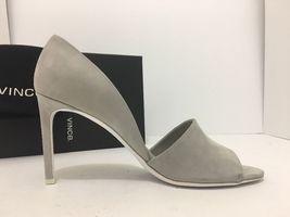 9 Leather M Toe Pumps Open Saffron High Heels Women's Vince Size Light Grey wnAPRtqtSp