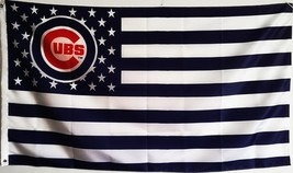 MLB Chicago Cubs Stars & Stripes 3'x5' Indoor/Outdoor Team Nation Flag W... - $9.99