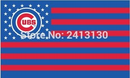 MLB Chicago Cubs Stars & Stripes 3'x5' Indoor/Outdoor Team Nation Flag R... - $9.99