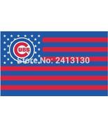 MLB Chicago Cubs Stars & Stripes 3'x5' Indoor/Outdoor Team Nation Flag R... - $9.99