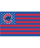 MLB Chicago Cubs Stars & Stripes 3'x5' Indoor/Outdoor Bear Logo Team Nat... - $9.99