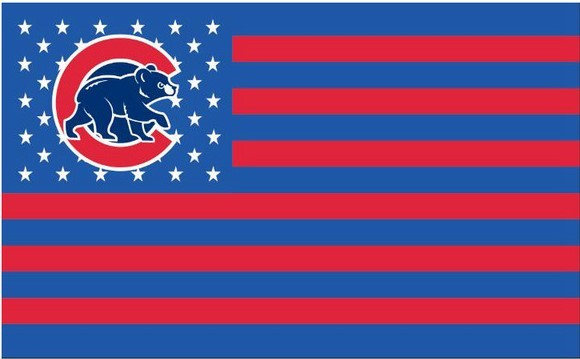 MLB Chicago Cubs Stars & Stripes 3'x5' Indoor/Outdoor Bear Logo Team Nation Flag