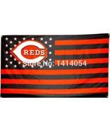 MLB Cincinnati Reds Stars & Stripes 3'x5' Indoor/Outdoor Team Nation Fla... - $9.99