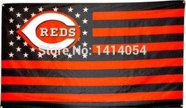 MLB Cincinnati Reds Stars & Stripes 3'x5' Indoor/Outdoor Team Nation Fla... - $9.99