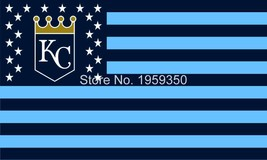 MLB Kansas City Royals Stars & Stripes 3'x5' Indoor/Outdoor Team Nation ... - $9.99