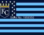 Nsas city royals flag 3ft x 5ft polyester mlb banner flying with stars and stripes thumb155 crop
