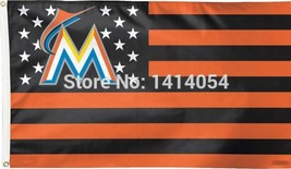 MLB Miami Marlins Stars & Stripes 3'x5' Indoor/Outdoor Team Nation Flag ... - $9.99