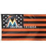 MLB Miami Marlins Stars & Stripes 3'x5' Indoor/Outdoor Team Nation Flag ... - $9.99