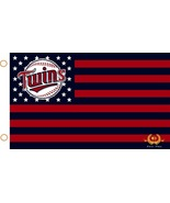 MLB Minnesota Twins Stars & Stripes 3'x5' Indoor/Outdoor Team Nation Fla... - $9.99