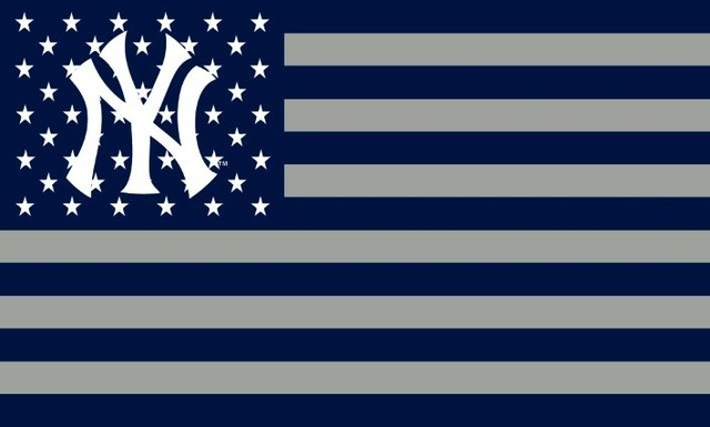 Yankees logo with stars and stripes flag 3ftx5ft banner 100d polyester flag 90x150cm.jpg 640x640