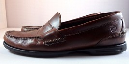 Mens Slip Brown On 10 M Shoes Leather Penny Loafer size Sperry Sider Top wqwZr