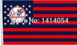 MLB New York Yankees Stars & Stripes 3'x5' Indoor/Outdoor Team Nation Fl... - $9.99