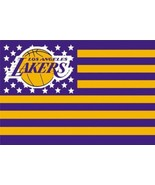 NBA Los Angeles Lakers Stars & Stripes 3'x5' Indoor/Outdoor Team Nation ... - $9.99