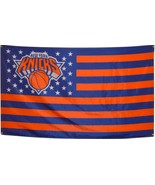 NBA New York Knicks Stars & Stripes 3'x5' Indoor/Outdoor Team Nation Fla... - $9.99