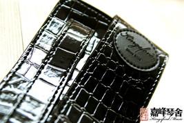 100% brand new kingsford imitate snake skin guitar strap black free ship... - $8.76
