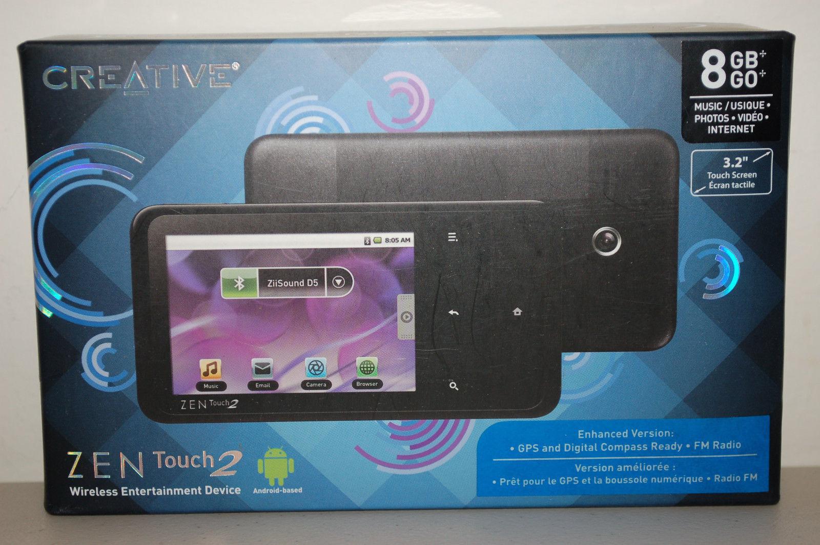 creative zen touch 2 8gb gps bluetooth wi fi and 35 similar items rh bonanza com Creative Zen MP3 Player Drivers Zen MP3 Player Problems