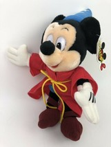 "NEW Disney Mickey Mouse Sorcerer Fantasia Parks Mouseketoys Plush 14""  - $14.84"