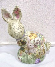 Vintage Style Easter Paper Bunny Rabbit with Ch... - $32.99