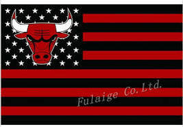 NBA Chicago Bulls Stars & Stripes 3x5 Indoor/Outdoor Team Nation Flag Bl... - $9.99