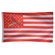 MLB St. Louis Cardinals Stars & Stripes 3'x5' Indoor/Outdoor Team Nation... - $9.99