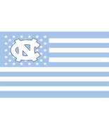 NCAA North Carolina Tarheels Stars & Stripes 3x5 Indoor/Outdoor Team Nat... - $9.99