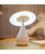 E Support Mushroom Touch Dimming LED Desk Lamp Anion Air Purifier Rechar... - $28.70