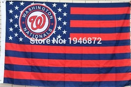 MLB Washington Nationals Stars & Stripes 3x5 Indoor/Outdoor Team Nation ... - $9.99