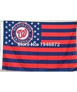 MLB Washington Nationals Stars & Stripes 3x5 Indoor/Outdoor Team Nation ... - $9.99