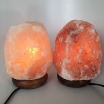 "2x Himalaya Natural Handcraft Rough Raw Crystal Salt Lamp,6.75""-7""Tall, ... - $25.60"