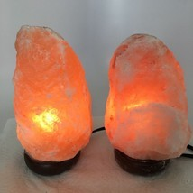 "2x Himalaya Natural Handcraft Rough Raw Crystal Salt Lamp, 7.5""-8"" Tall,... - $24.00"