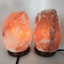 "2x Himalaya Natural Handcraft Rough Raw Crystal Salt Lamp,7""-7.5""Tall, HL63 - $25.60"
