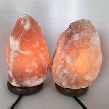 "2x Himalaya Natural Handcraft Rough Raw Crystal Salt Lamp,8""-8.25""Tall, ... - $25.60"