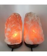 """2x Himalaya Natural Handcraft Rough Raw Crystal Salt Lamp, 8.25""""-8.5""""Tal... - $25.60"""
