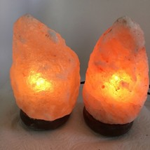 "2x Himalaya Natural Handcraft Rough Raw Crystal Salt Lamp,7.75""-8""Tall,X... - $24.00"