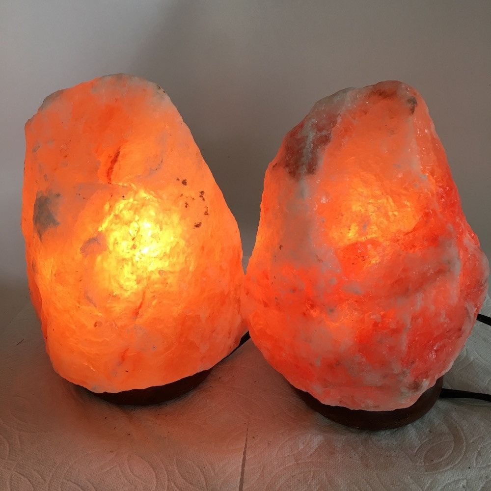 "2x Himalaya Natural Handcraft Rough Raw Crystal Salt Lamp,7.5""-7.5""Tall,XL231"