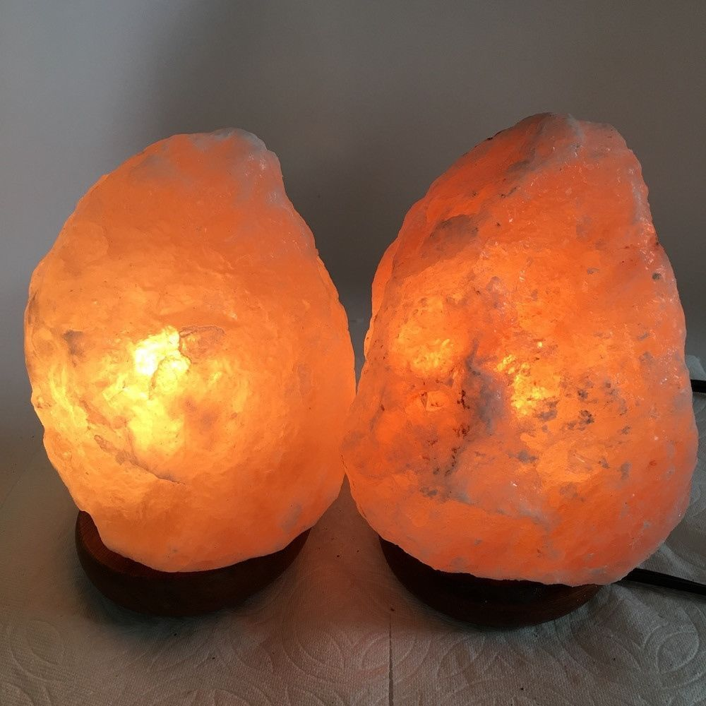 "2x Himalaya Natural Handcraft Rough Raw Crystal Salt Lamp,7""-7.25""Tall,XL256"