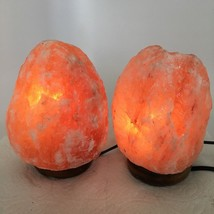 "2x Himalaya Natural Handcraft Rough Raw Crystal Salt Lamp, 6.75""-7"" Tall... - $24.00"