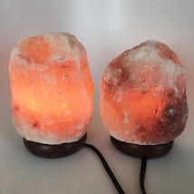 "2x Himalaya Natural Handcraft Rough Raw Crystal Salt Lamp, 6.5""-7""Tall, ... - $25.60"
