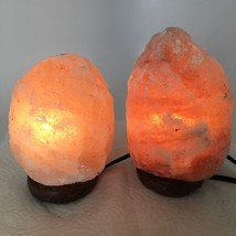 "2x Himalaya Natural Handcraft Rough Raw Crystal Salt Lamp, 6.5""-7.5"" Tal... - $24.00"