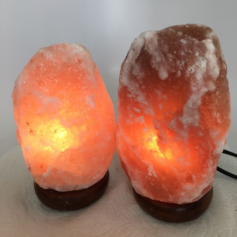"2x Himalaya Natural Handcraft Rough Raw Crystal Salt Lamp, 7.5""-8.25"" Tall,XL141"